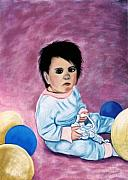 Babies Pastels - Balloons by Jan Amiss