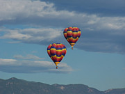 Balloons Over The Rockies Prints - Balloons over the Rockies Print by Ernie Echols
