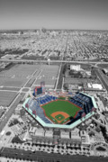 Ballpark Prints - Ballpark with City Print by Chris Dougherty