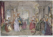 Ball Gown Prints - Ballroom, 1760 Print by Granger