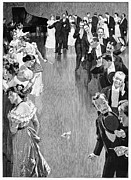 Ball Gown Metal Prints - BALLROOM, c1900 Metal Print by Granger