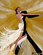 Dancer Art Framed Prints - Ballroom Dance Framed Print by Helen Gerro