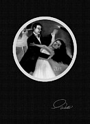 American Oil Wells Posters - BALLROOM DANCERS - Detail - 5 of 10 in Series Poster by Andrew Wells