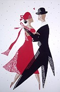 Ballroom Mixed Media - Ballroom Dancers 1 by Grace Sivels