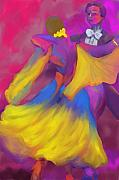 Deborah Lee Art - Ballroom Dancers by Deborah Lee
