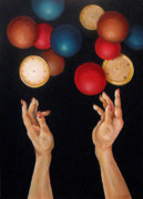 Juggling Painting Originals - Balls In The Air by Lorraine Ulen