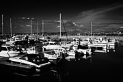 Ballycastle Photos - Ballycastle Harbour And Marina With Fair Head In The Background County Antrim Northern Ireland by Joe Fox