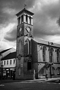 Ballymoney Posters - Ballymoney Town Clock Tower And Masonic Hall County Antrim Northern Ireland Poster by Joe Fox