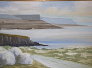 The Burren Painting Acrylic Prints - Ballyreen The Burren Acrylic Print by Eilis Blake