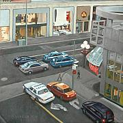 Intersection Paintings - Balmuto and Bloor by Allan OMarra