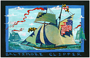 Reynolds Paintings - Baltimore Clipper by Jimmy Reynolds