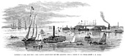 North Point Posters - Baltimore Harbor, 1864 Poster by Granger