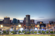 Skyline Photo Framed Prints - Baltimore Harbor Framed Print by Shawn Everhart