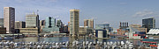 Landmarks Posters - Baltimore Inner Harbor Panorama - Maryland Poster by Brendan Reals