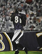 Football Paintings - Baltimore Ravens Anquan Boldin by Kim Selig