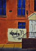 Tim Painting Originals - Baltimore Rowhouses by Tim Webster