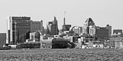 City Buildings Prints - Baltimore Skyline - Maryland Print by Brendan Reals