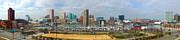 Inner Harbor Photos - Baltimore Skyline Inner Harbor Panorama by Jon Holiday