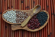 Bamboo Mat Posters - Bamboo and Beans Poster by Inspired Nature Photography By Shelley Myke
