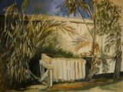 Julianne Felton Art - Bamboo and Herb Garden by Julianne Felton