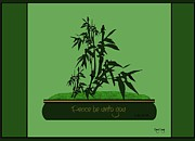 Bible Verse Canvas Art Prints Prints - Bamboo bonsai Print by Greg Long