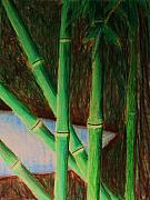 Light Blue Pastels Posters - Bamboo forest Poster by Bruce Byrnes