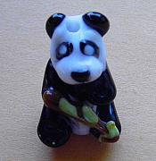 Black And White Jewelry - Bamboo Panda by Cecilia Alvarez