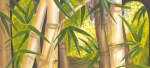Large Format Painting Prints - Bamboo with Frog Print by Sandra Benentt