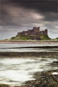 Dark Skies Posters - Bamburgh Castle Bamburgh Northumberland Poster by John Short