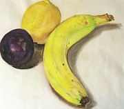 Plum Pastels - Banana And Company by Sheron Petrie