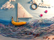Sail Fish Prints - Banana Boat Print by Betsy Baldwin-Owens