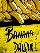 Food And Beverage. Posters - Banana Daiquiri Poster by Barb Pearson