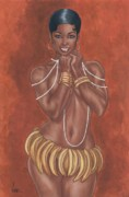 African-american Mixed Media Prints - Banana Dancer Print by Clive ARNO
