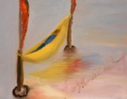 Flags Paintings - Banana Hammock by DJ Russell