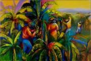 West Indies Paintings - Banana Plantation by Cynthia McLean
