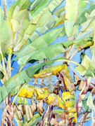 Sri Lankan Artist Paintings - Banana Trees by Sasitha Weerasinghe