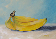 Yellow Bananas Paintings - Bananas II by Torrie Smiley