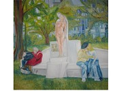 Parc Paintings - Banc Romantique by Dirk Ghys