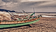 China Beach Prints - Banca Boat 2 Print by Skip Nall