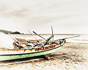 China Beach Prints - Banca Boat Print by Skip Nall