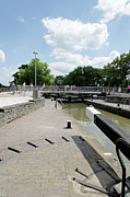 England Acrylic Prints - Bancroft Basin - Canal Lock Acrylic Print by Rod Johnson
