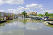 Waterway Prints - Bancroft Basin at Stratford-upon-Avon Print by Rod Johnson
