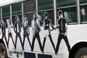 Green Day Art - Band Bus by Jez C Self
