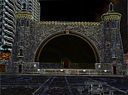 Building Digital Art Originals - Band Shell by Dennis Dugan