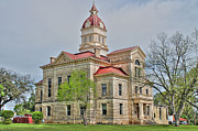 Bandera Prints - Bandera County Courthouse in HDR Print by Sarah Broadmeadow-Thomas