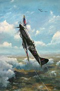 Jets Paintings - Bandits at 3 oclock High by Colin Parker