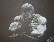 The Dark Knight Drawings - Bane by Melanie Domzalski