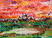 Prairies Paintings - Banff Revisited by James Bryron Love