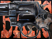 Ryan Jones Art Framed Prints - BANG She hit them with a ten cent pistol Framed Print by Ryan Jones