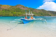 El-nido Framed Prints - Bangka boat Framed Print by MotHaiBaPhoto Prints